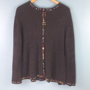 J. Jill • Button Cardigan with Embroidery